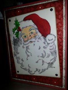 12-15-12 card made using R156 Jolly Santa by Stampendous.