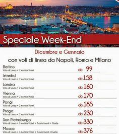 speciale week-end a dicembre e gennaio da € 99!!!
