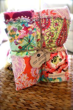 582fd7bdeeb Rag Quilt CUSTOM for Baby GIRL - Handmade - Reversible - Any Color Any  Pattern -