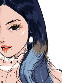 Twice Fanart, Drawing Sketches, Sketch Art, Colorful Drawings, Art Tips, Summer Days, Disney Characters, Fictional Characters, Digital Art