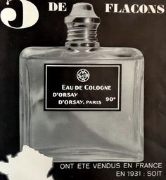 Original 1932 EAU D'ORSAY perfume Print Ad by MushkaVintage3