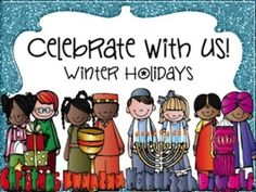 Winter Holidays (Hanukkah, Diwali, Kwanzaa, and Christmas 173 pages) - holiday comparison unit to teach about the different holiday traditions in the winter. Holiday Themes, Holiday Traditions, Christmas Activities, Holiday Fun, Holiday Parties, Holiday Ideas, Winter Fun, Winter Theme, Winter Holidays