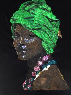African Queen T-shirt Afro T-shirt Painting 3d Art to Wear