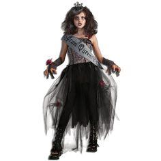 Déguisement reine du bal Zombie enfant, costume Zombies enfant, Halloween, fêtes.