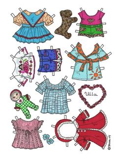 Dogs paper dolls 34