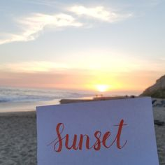 We hope you all had a great Earth Day! 🌎🌅 #EarthDay #NewportBeach #CA #sunset #beach #OC #calligraphy