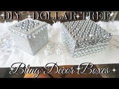 DIY DOLLAR TREE BLING DECOR BOXES DOLLAR STORE DIY DIY GLAM ROOM DECOR TUMBLR INSPIRED - YouTube