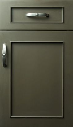 Austere door style with custom color coffee bean finish on maple #cabinets #kitchen