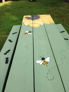 Make use of these cost-free picnic table plans to build a picnic table for your yard, deck, or any other area around your residence where you need sitting. Developing a picnic table is . Read Best Picnic Table Ideas for Family Holiday Painted Picnic Tables, Diy Picnic Table, Diy Table, Painted Benches, Painted Patio Table, Hand Painted Chairs, Wooden Benches, Kids Picnic, Wooden Pallets
