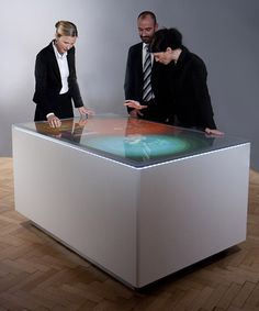 Interactive, Exhibition, Scenography, Struktable – Interactive table-top with multi-touch display, Strukt – Vienna