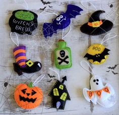 Hey, I found this really awesome Etsy listing at https://www.etsy.com/listing/248026998/felt-halloween-party-ornaments-choose