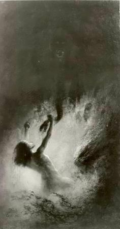 In the fight with inferior forces, 1903  Karl Wilhelm Diefenbach (1851-1913)