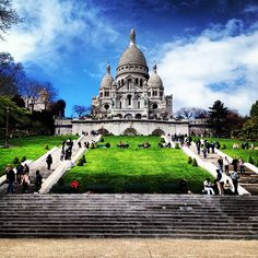 Basilique du Sacré-Cœur in Paris, Île-de-France- Don't walk up through the park out front, the vendors can be very aggressive. Take the metro to Abbesses and enjoy a stroll through the Montmartre neighborhood.