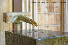 Bamboo Fountain in Nomura-ke Samurai house in Kanazawa