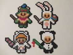 League of Legends inspired Teemo set, available as magnets, wall decor, or hanging ornaments.