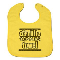 14992 Pittsburgh Steelers Myron Cope The Terrible Toddler Towel Bib by WinCraft