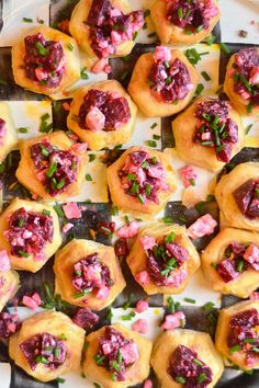 Puff Pastry Beet and Feta Cups