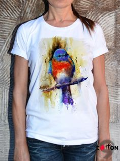 New Collection Fashion Sparrow  Cotton Painted T-shirt by Cotton9