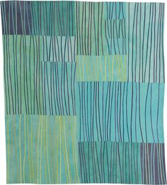 Markings Lisa Call 74 x 66 inches Textile Painting (Fabric hand dyed by the artist, cotton batting, cotton thread) Fabric Art, Fabric Design, Quilt Design, Textiles, Quilt Modernen, Contemporary Quilts, Grafik Design, Textures Patterns, Quilting Designs
