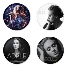 "ADELE 1.75"" Badges Pinbacks, Mirror, Magnet, Bottle Opener Keychain http://www.amazon.com/gp/product/B00CVLHSD8"
