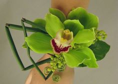 Wrist Corsage with Cymbidium Orchid