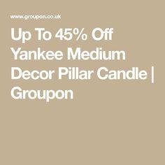 02375b4e50a Up To 45% Off Yankee Medium Decor Pillar Candle   Groupon