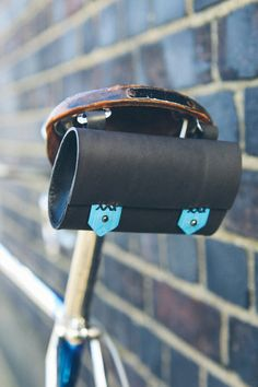Dovile B Design (Etsy) - bike roll leather, linen, hardware $63
