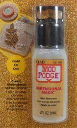 Mod Podge ® Dimensional Magic - Glitter Gold, 2 oz.