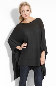 love this over-sized black poncho. it's perfect for leggings.