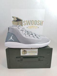 82c68c8cbf21 Nike Air Jordan Reveal Basketball Shoes Grey White 834064-003 Men s Size 12