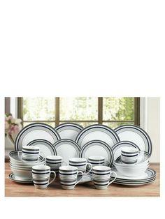 White Porcelain Dinner Set Tableware 80 Pc Ceramics Crockery Service Stoneware