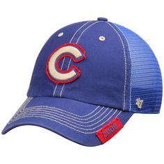 low cost bf909 8f9b5 Chicago Cubs  47 Turner Clean-Up Adjustable Hat - Royal