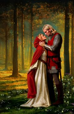 Medieval lovers by Aleta Rafton - Red Riding Hood Romance Novel Covers, Romance Art, Fantasy Romance, Romance Books, Fantasy Kunst, Fantasy Art, Fantasy Couples, Book Cover Art, Book Art