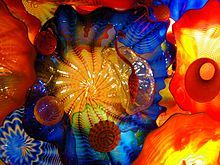 Detail of Persian Ceiling installation by Dale Chihuly at the De Young Museum in San Francisco, 2008.