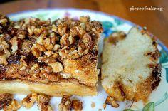 walnut maple yeasted coffee cake