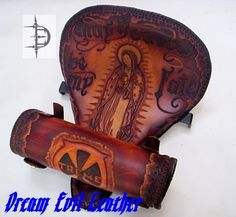 custom combo solo seat and tool bag for a chopper motorcycle