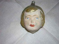 Antique Blown Mercury Glass Christmas Ornament - Girls Face with Hat  | eBay