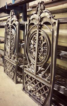 Our flagship gate Aphrodite - pedestrian and main gates. #WroughtIron #Iron #DrivewayGates #Metal #EstateGates #Drive #Garden #Bespoke #Custom #Designer #Modern #Vintage #Contemporary #Entrance #Sliding #Architecture #Privacy #Entry #Victorian #Outdoor #Traditional #Gates #IronWork #home #Security