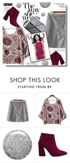 """Zaful"" by sans-moderation ❤ liked on Polyvore featuring Topshop, Fall, polyvoreeditorial, polyvorecontest and catstyle"