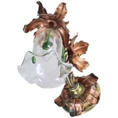 William Arthur Benson Wall Light / Sconce - W.benson Arts And Crafts Brass, Copper, Glass Brass Mirror, Polished Brass, Glass Shades, Wall Sconces, Wall Lights, Christmas Ornaments, Holiday Decor, American, Appliques