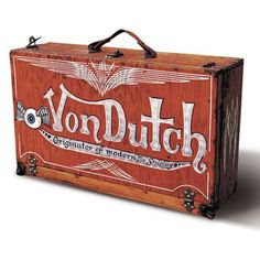 Von Dutch's trunk...from which came many a pinstripe masterpiece
