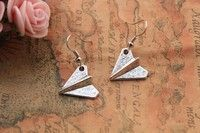 Buy Paper Airplane earrings,retro silver SUPER COOL Paper plane earrings at Wish - Shopping Made Fun Paper Plane, 3d Paper, Hipster Jewelry, Jewelry Box, Unique Jewelry, Airplane, Drop Earrings, Cool Stuff, Retro