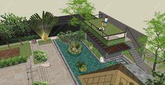 Thiết kế kiến trúc cảnh quan sân vườn Villa | Greensol