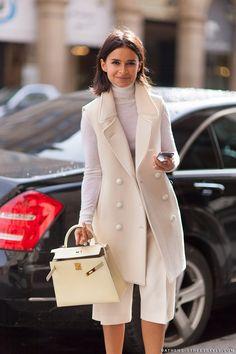 Mira's white delight. Paris. #MiroslavaDuma