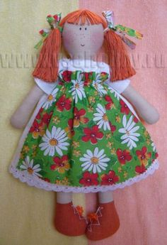 cloth doll handmade red-haired beauty (page 1 of 4) doll with orange hair and shoes