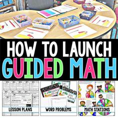 This How to Launch Guided Math 86-page FREEBIE gives you step-by-step lesson plans and activities to get your Guided Math rotations up and running in your 2nd classroom! Check it out!