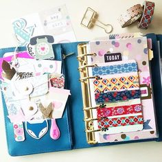 carladetaboada: Love to carry washi with me, so I always have a card and a tag with my favorite ones in my planners!