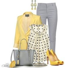 Bright fun work outfit