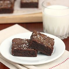 Caramel & Fleur de Sel Brownies.  More sweet than an 82 yr old granny, drinking a Shirley Temple, in a cane field.