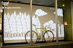 Fixie window display art installation by Chairman Ting x Tangible Interaction